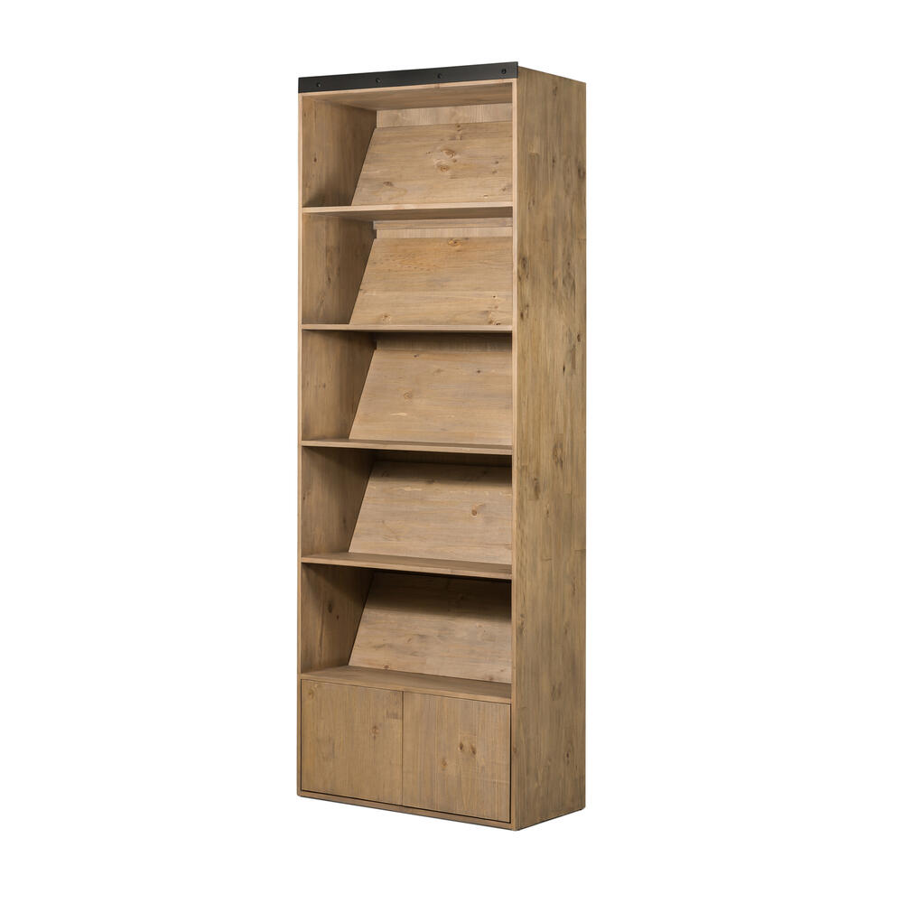 See Details - Bookshelf Configuration Smoked Pine Finish Bane Bookshelf