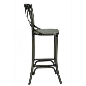 Industrial X Back Counter Stool
