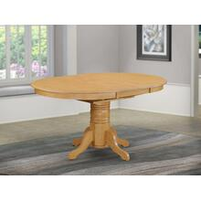 """a Pedestal Oval Table with 18"""" Butterfly leaf, Oak"""