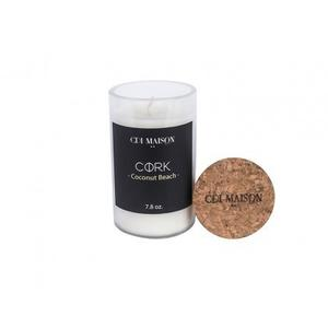 White Cork Top Candle - Coconut Beach