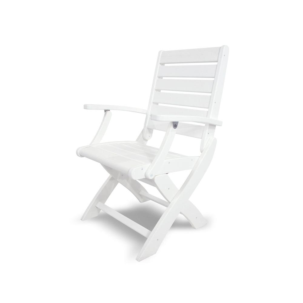 White Signature Folding Chair
