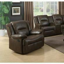 ACME Romulus Glider Recliner - 52817 - Espresso Leather-Aire Match