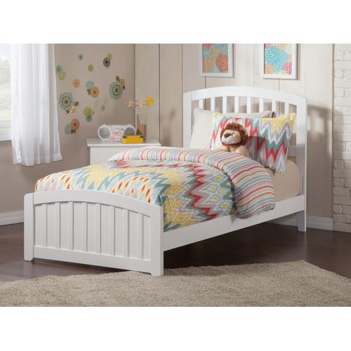 Atlantic Furniture - Richmond Twin XL Bed with Matching Foot Board in White