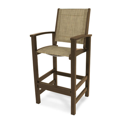 Teak & Burlap Coastal Bar Chair