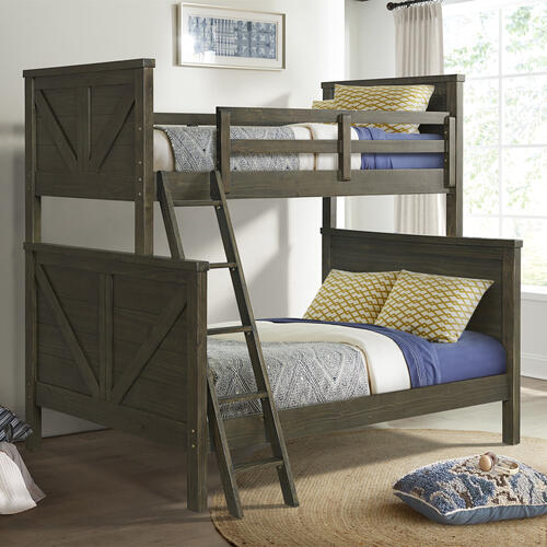 Intercon Furniture - Tahoe Youth Twin over Full Bunk Bed  River Rock