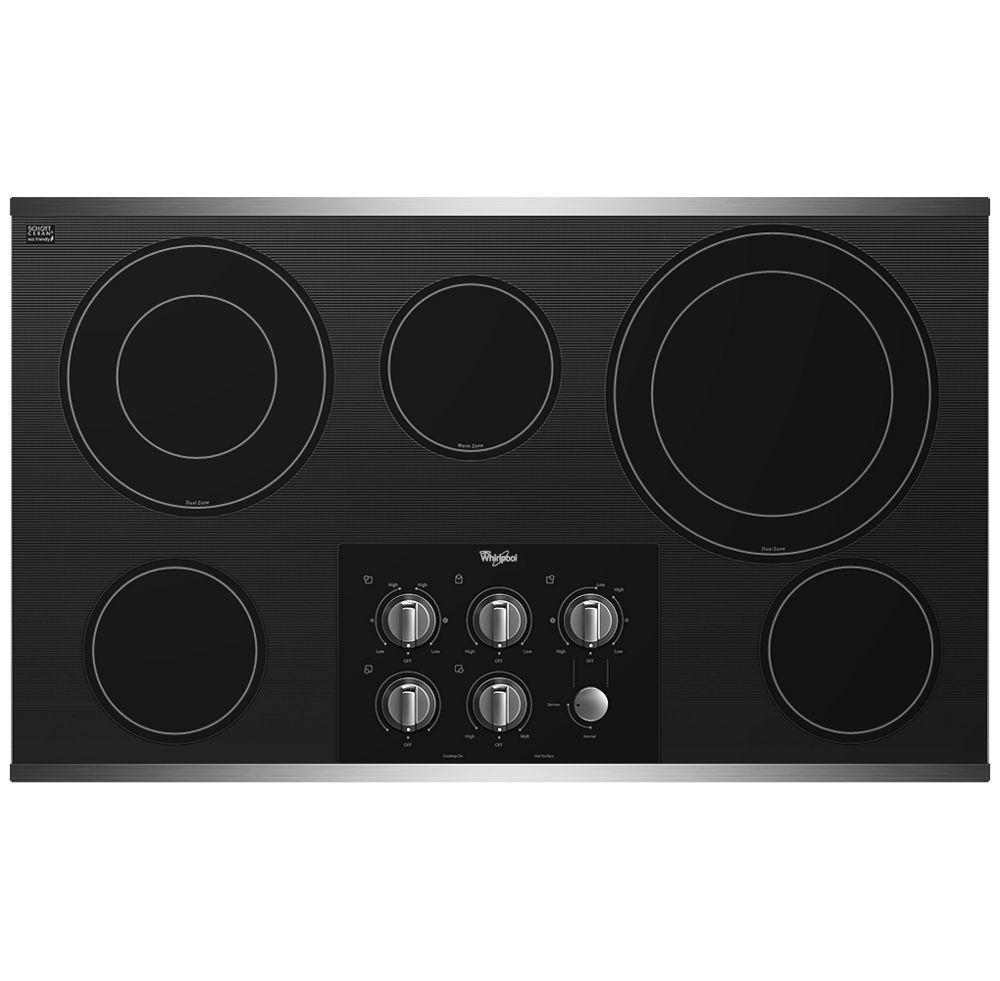 WhirlpoolGold® 36-Inch Electric Ceramic Glass Cooktop With Two Dual Radiant Elements