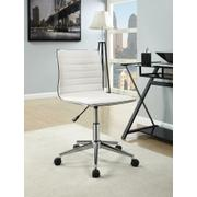 Modern White and Chrome Home Office Chair Product Image