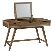 See Details - Desk/Vanity - Caramel Finish