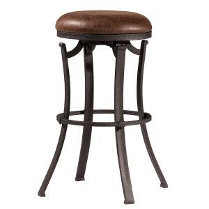Kelford Backless Swivel Bar Stool - Textured Black