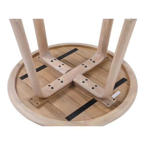 Malibu Round Dining Table White Oak