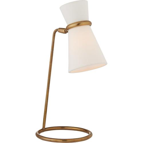 AERIN Clarkson 17 inch 40 watt Hand-Rubbed Antique Brass Table Lamp Portable Light