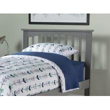 Mission Headboard Twin Atlantic Grey
