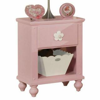 ACME Floresville Nightstand w/basket - 00739 - Pink