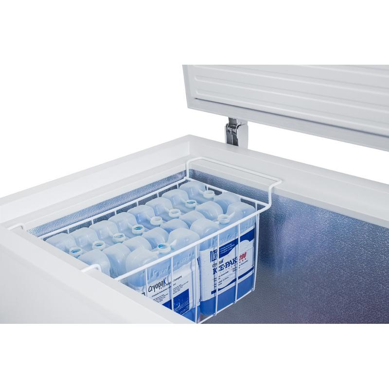 Commercially Listed 8 CU.FT. Frost-free Chest Freezer In White With Digital Thermostat for General Purpose Storage; Replaces Scff70