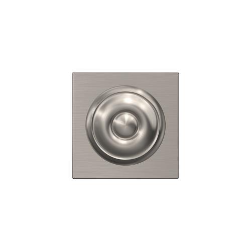 Custom Georgian Knob with Collins Trim Hall-Closet and Bed-Bath Lock - Satin Nickel