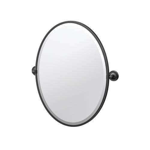 Designer II Framed Oval Mirror in Matte Black