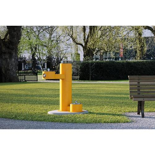 Elkay - Elkay Outdoor Fountain Bi-Level Pedestal with Pet Station, Non-Filtered Non-Refrigerated Yellow