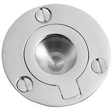 "Bronze Finish Flush ring, 2"" diameter"