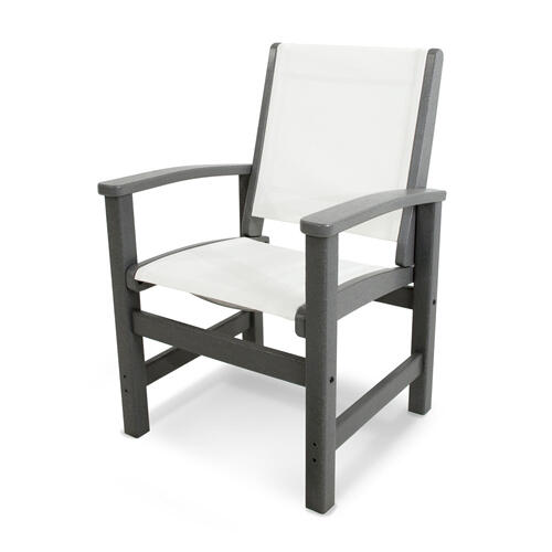 Slate Grey & White Coastal Dining Chair