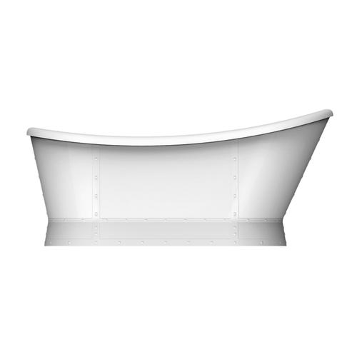 """Product Image - Millicent 66"""" Acrylic Freestanding Slipper Tub - Polished Nickel Drain and Overflow"""