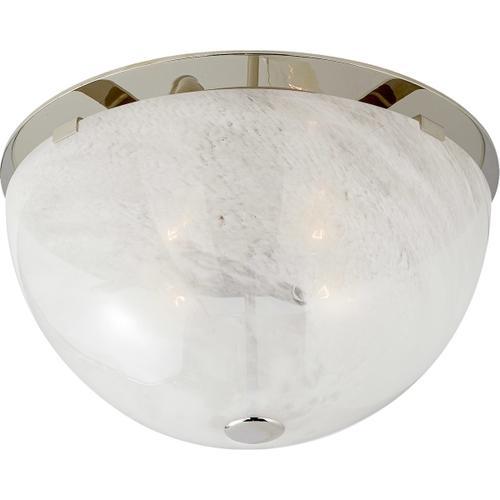 AERIN Serein 3 Light 14 inch Polished Nickel Flush Mount Ceiling Light, Medium