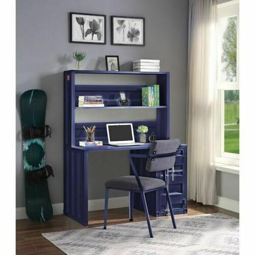 ACME Cargo Desk & Hutch - 37907 - Blue