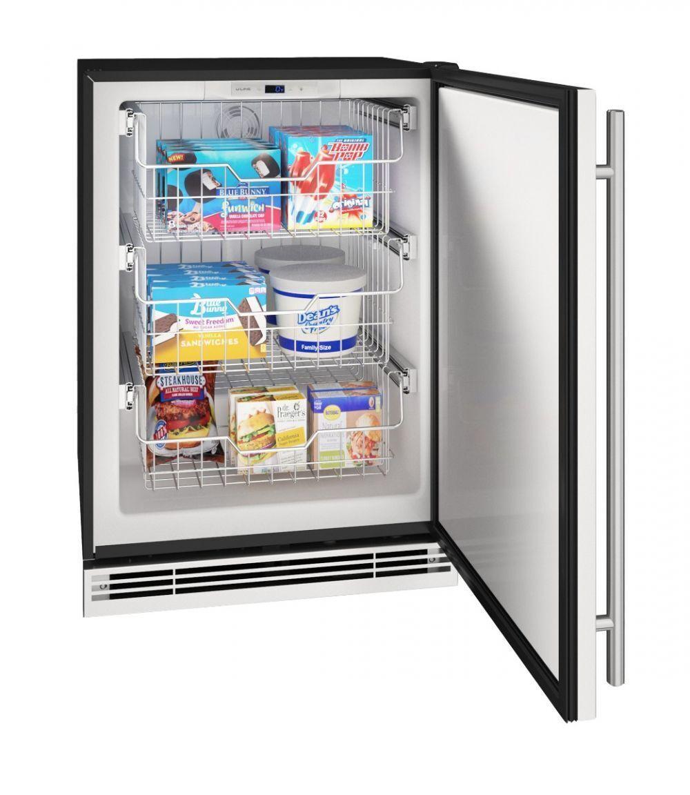 "U-LineHfz124 24"" Convertible Freezer With Stainless Solid Finish (115v/60 Hz Volts /60 Hz Hz)"