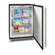 """Hfz124 24"""" Convertible Freezer With Stainless Solid Finish (115v/60 Hz Volts /60 Hz Hz)"""