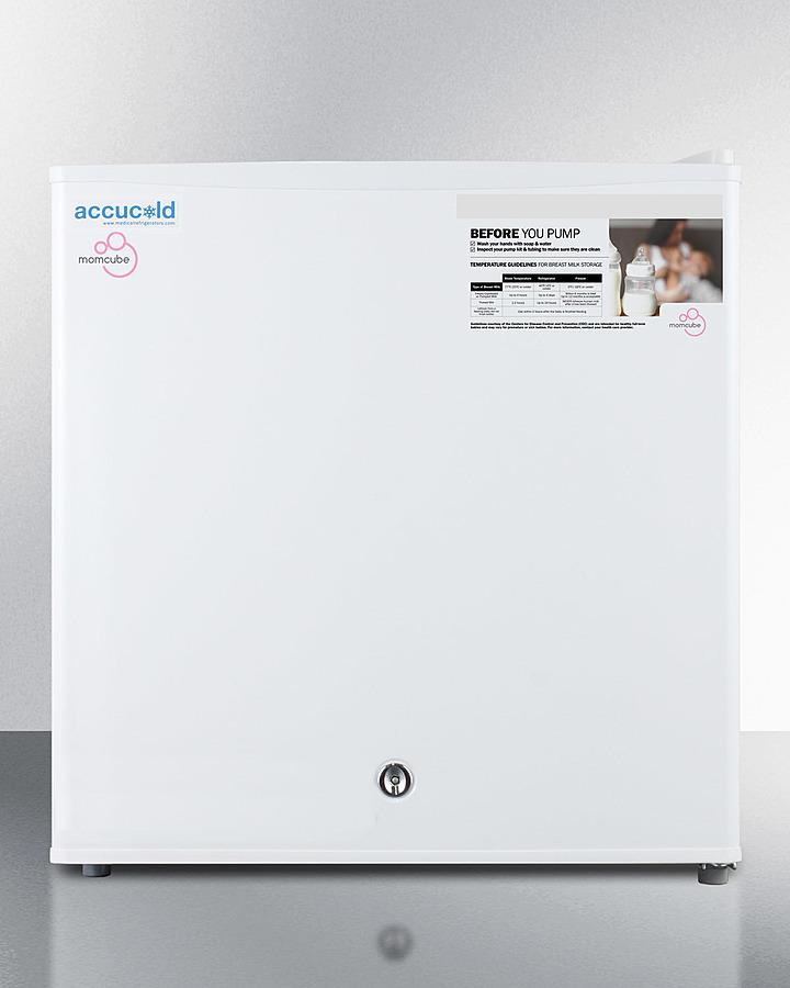 SummitCountertop Momcube All-Freezer For Storage Of Breast Milk, Manual Defrost With Lock