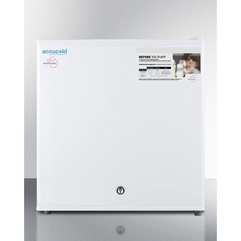 Countertop Momcube All-freezer for Storage of Breast Milk, Manual Defrost With Lock