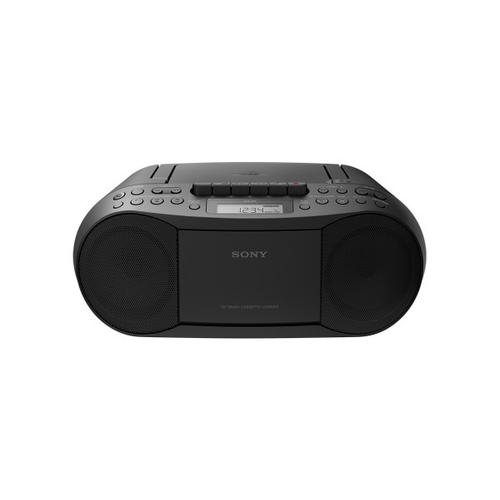 Sony - CD/Cassette Boombox with Radio