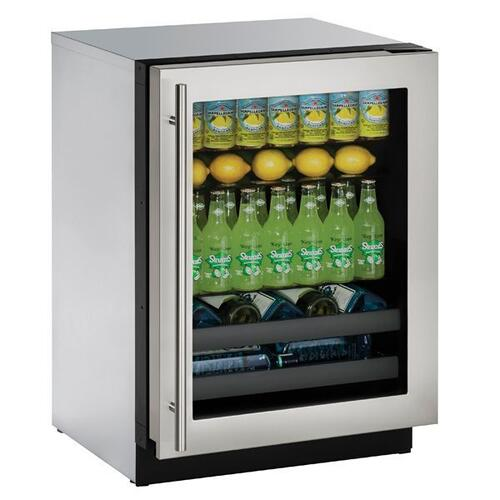 "3024bev 24"" Beverage Center With Stainless Frame Finish and Left-hand Hinge Door Swing (115 V/60 Hz Volts /60 Hz Hz)"