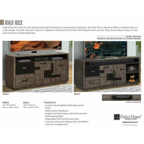 RIVER ROCK 76 in. TV Console
