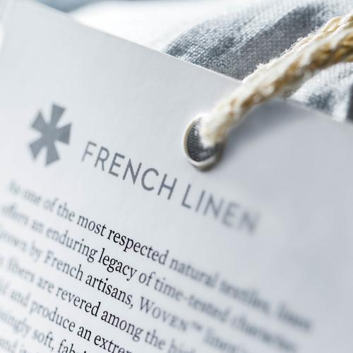 French Linen Split Cal King White
