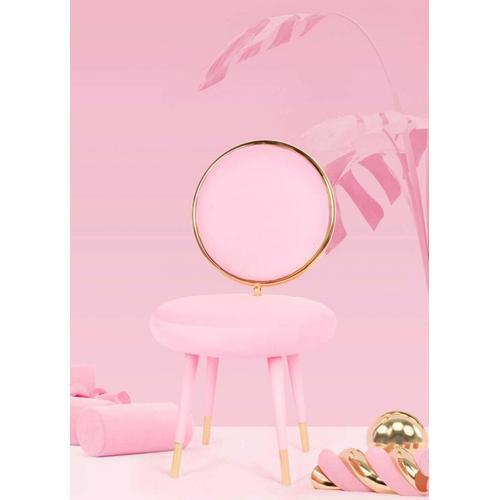 VIG Furniture - Modrest Haswell - Glam Pink Velvet Accent Chair