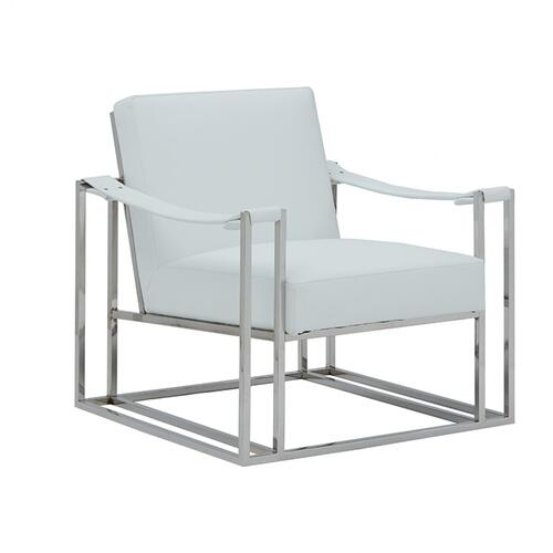 Gallery - Modrest Larson Modern White Leatherette Accent Chair