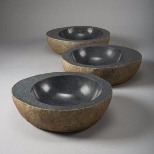 Natural Vessel Black Granite Product Image