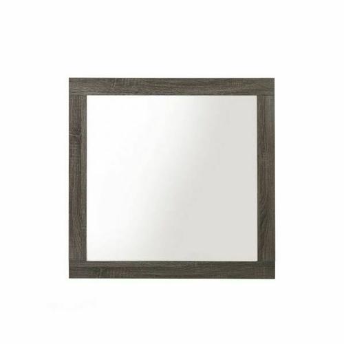 ACME Avantika Mirror - 27674 - Transitional - Veneer (Foil), MDF, PB - Rustic Gray Oak