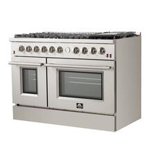 """See Details - Forno - Silver Professional 48"""" Freestanding Gas Range"""