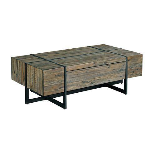 Modern Timber Rectangular Cocktail Table