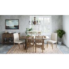 Carlyle Crossing Solid Pine Dining Base
