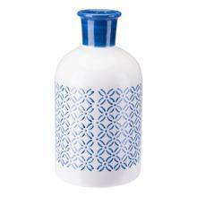 Large Bottle Steel Blue & White