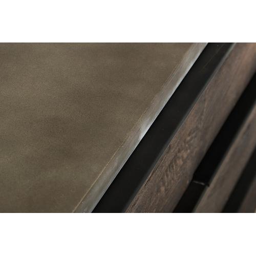 VIG Furniture - Modrest Selma Modern Dark Aged Oak & Concrete Dresser