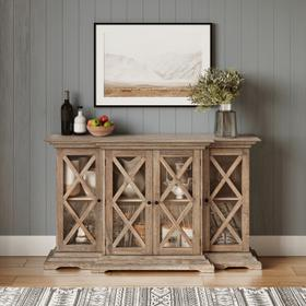 See Details - Carrington Small Breakfront Cabinet - Bisque