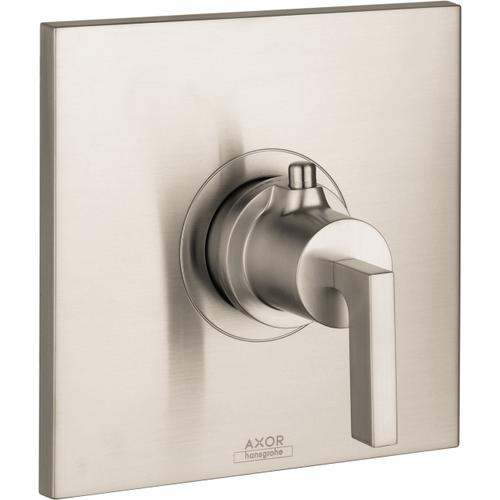 Brushed Nickel Thermostatic Trim HighFlow with Lever Handle