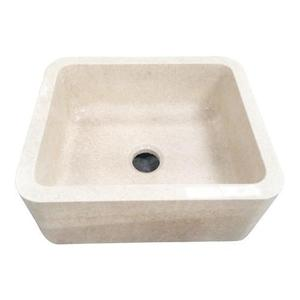"Chandra Single Bowl Marble Farmer Sink - 30"" Product Image"