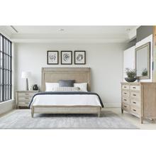 Willow Panel Bed - Burlap / Queen