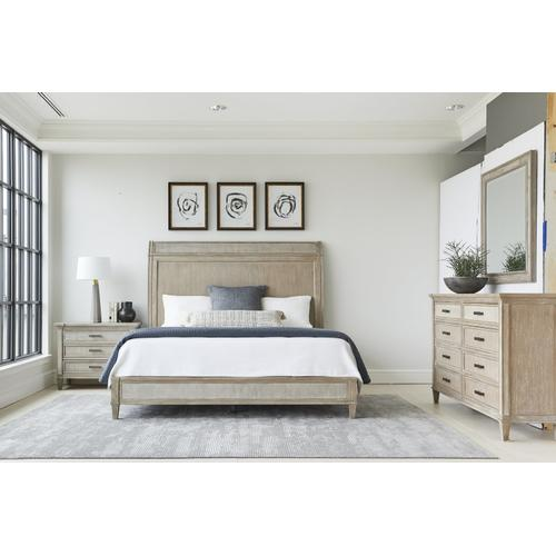 Willow Panel Bed - Burlap / California King
