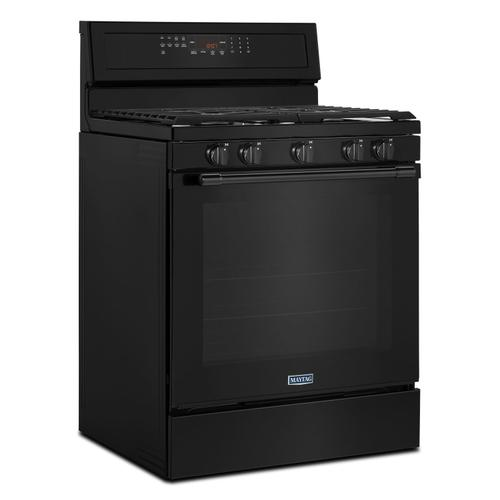 Maytag - 30-Inch Wide Gas Range With True Convection And Power Preheat - 5.8 Cu. Ft. Black