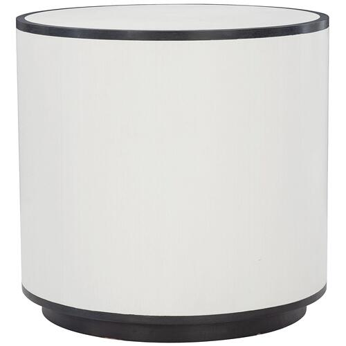 Silhouette Side Table in Eggshell (307), Onyx (307)